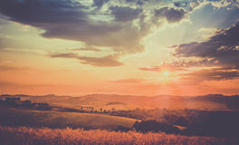 Retro sunset Stock Photos