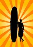 retro surf Zdjęcie Stock