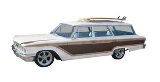 Retro surfer woodie wagon Stock Image