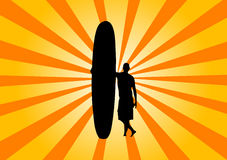 retro surfera Zdjęcia Royalty Free