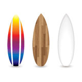 Retro surfplanken stock illustratie