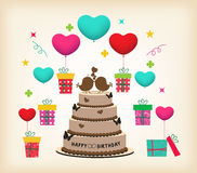 Retro Surprise Birthday Royalty Free Stock Image
