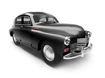 retro svart bil Arkivbilder
