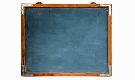 Retro svart tavla för tappning: trätom svart tavla för blå gammal grungy tappning eller retro svart tavla med den isolerade red u Royaltyfri Bild