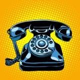 retro svart telefon Royaltyfri Bild