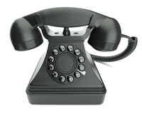 retro svart telefon Royaltyfri Fotografi