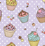 Retro sweets pattern Royalty Free Stock Images