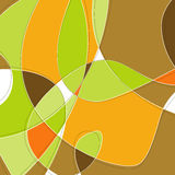 Retro Swirl Background. Retro Swirl Loopy Background of stylish, orange green and brown shapes. Easy-edit layered vector file--No transparencies or strokes Stock Image