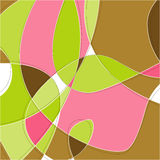 Retro Swirl Background (Vector. Retro Swirl Loopy Background of stylish, pink green and brown shapes. Easy-edit layered vector file--No transparencies or strokes Royalty Free Stock Image