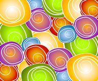 Retro Swirl Circles Collage stock photo