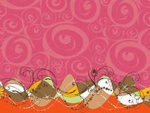 retro swirl för abstrakt bakgrundspink royaltyfri illustrationer