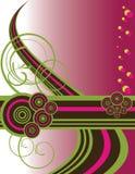 retro swirl för Cherry Royaltyfria Bilder