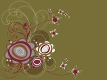 retro swirl för tusenskönablomma royaltyfri illustrationer