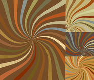 Retro Swirl Sunburst Vectors Stock Photography