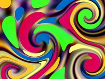 Retro swirls Royalty Free Stock Image
