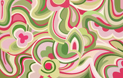 Retro swirls and curves. An illustration with retro style shapes , curves and colours Royalty Free Stock Photography