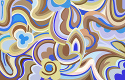 Retro swirls and curves. An illustration with retro style shapes , curves and colours Stock Images