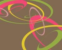Retro- swoopy Kreishintergrund vektor abbildung