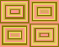 Retro symmetrical squares background. Retro symmetrical squares in various colors and sizes collage Royalty Free Stock Photos