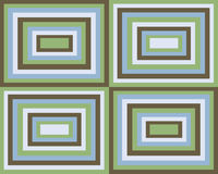 Retro symmetrical squares background vector illustration