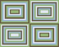 Retro symmetrische vierkantenachtergrond Stock Afbeeldingen