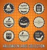 Retro Szczęśliwe Halloween etykietki, ikony i Zdjęcia Royalty Free