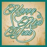 Retro Szczęśliwy nowego roku powitanie Obrazy Royalty Free