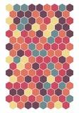 Retro sześciokąta honeycomb wzoru tło Wektorowy ilustracyjny format eps 10 royalty ilustracja