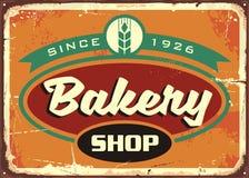 Retro szyldowy szablon dla piekarnia sklepu Zdjęcia Stock