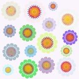 retro tło kwiat ilustracja wektor