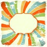 Retro tło z kolorową spiralą Obrazy Royalty Free