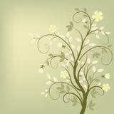 retro tła drzewo Obrazy Royalty Free