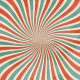 retro tło Falistych promieni rocznika wektoru retro ilustracja Obraz Stock