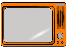 Retro T.V. Illustration of a retro television in orange vector illustration