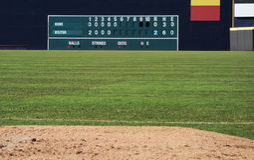 Retro tabellone segnapunti di baseball Fotografia Stock Libera da Diritti