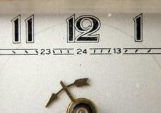 Retro  table alarm clock ,macro Royalty Free Stock Image