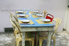 Retro Table Ready Laid in Rome Stock Image