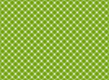 Retro tablecloth green white Stock Image