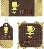 Retro tags coffee Stock Photography