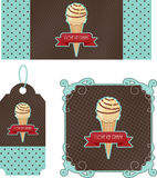 Retro tags ice cream Stock Images