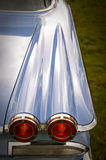 Retro tail lights. On a classic fifties american car stock photography