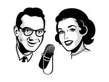 Retro talk show Stock Images