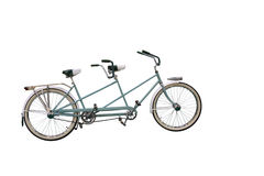Retro Tandem Bicycle Stock Photography