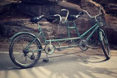 Retro tandem bicycle Royalty Free Stock Images