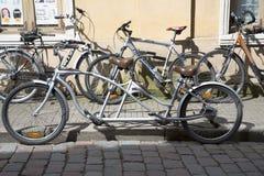 Retro tandem bicycle Royalty Free Stock Photos