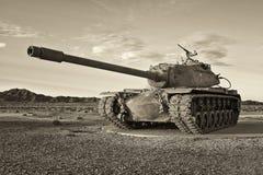 Retro Tank van het Leger Stock Afbeelding