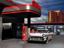 Retro- Tankstelle Stockbild
