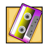 Retro tape clip art Stock Photography