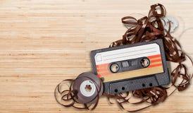 Retro tape. Dj audio music isolated historical aged Royalty Free Stock Image