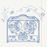 Retro tape recorder Royalty Free Stock Photo